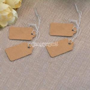 200PCs/Bag Kraft Jewelry Price Tag Fashion Clothes Gift Label Tags Rectangle