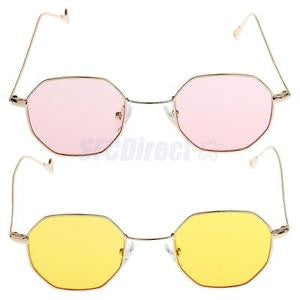 Alcoa Prime 2pc Summer Mens Womens Flat Len Octagon Retro Hippie Groove Sunglasses UV400