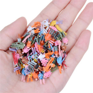 100Pcs Mini Painted Figures 1:150 Standing Sitting Model People Toys Decor TO