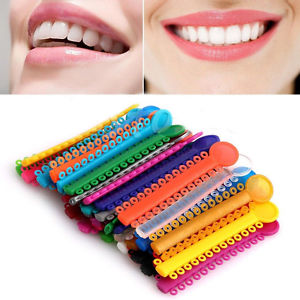 3Pcs New Dental Ligature ties Orthodontics Elastic Rubber Bands Multi Color