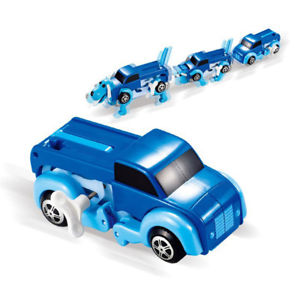 14CM cool Automatic transform Dog Car Vehicle Clockwork Wind up toy  kids LA