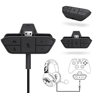 Stereo Headset Headphone Game 3.5mm Adapter For Microsoft Xbox One Controller