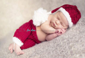 Alcoa Prime Newborn Baby Hand-woven Christmas Costumes Infant High Quality Milk Cotton Santa