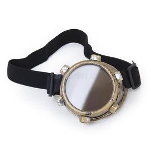 Alcoa Prime Steampunk Monovision Eyepatch Victorian Gothic Cyber Gothic Monocle Goggle Brass