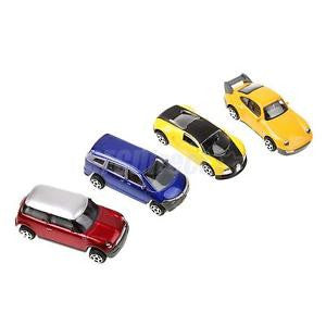 Alcoa Prime 4pcs 1:64 Scale DIY Model Cars Architecture Buildings Street Garden Kids Toy