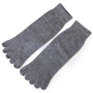 Alcoa Prime Footful Men's Women's Sports Yoga Casual Five Finger 5 Toes Socks Light Gray