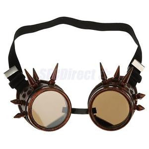Alcoa Prime Vintage Steampunk Spiked Goggles Cyber Punk Cyber Gothic Rave Cosplay Copper