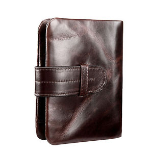Alcoa Prime Mens Genuine Leather Clutch Wallet ID Bifold Credit Card Coin Money Holder Purse