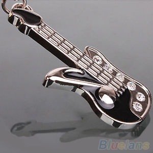 High Quality! Keychain Mini Guitar Key Ring Keyring Chain Crystal Cute Gadgets