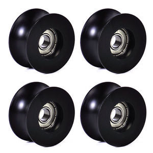 4Pcs 0840UU 8mm Groove Guide Pulley Sealed Rail Ball Bearing 8x40x20.7mm @