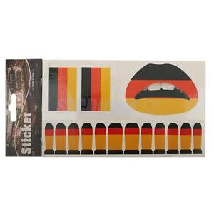 Alcoa Prime Germany National Flag Nail Face Temporary Tattoo for Fans Olympic Games