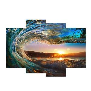 Alcoa Prime 4pcs Modern Canvas Prints Landscape Painting Background Wall Picture Waves