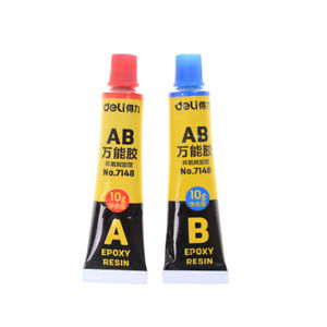 2 pcs/set Epoxy Resin Contact Adhesive Super Glue For Glass Metal Ceramic QW