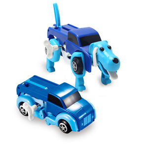 14CM cool Automatic transform Dog Car VehicleClockworkWind up toy kidsGift lEC