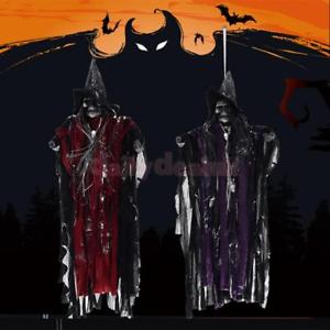 Alcoa Prime Haunted Halloween Prop Hanging Skeleton Ghost House Bar Pub Party Decor -Red