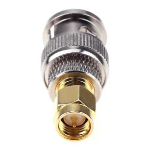 2pcs BNC Male to SMA Male RF Coaxial Adapter BNC to SMA Coax Jack Connector r#H3