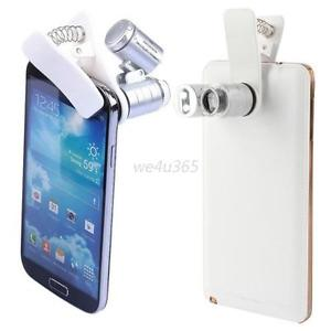 60x Zoom Microscope Clip Magnifier Camera LED Micro Lens For All Smart Phone New