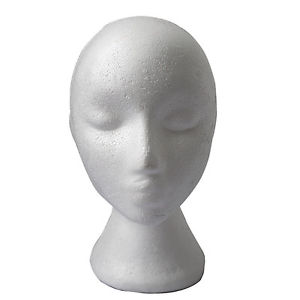 Women Mannequin Manikin Head Model Wig Hair Hat Display Styrofoam Foam QW