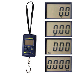 Alcoa Prime 40kg Digital LCD Fly Hanging Weighing Hook Scale Lagguage Fishing Suitcase UK N3