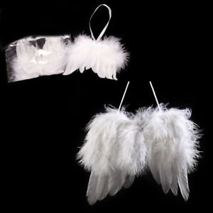 Alcoa Prime Angel Feather Wing Christmas Tree Decoration Hanging Ornament Wedding Natural