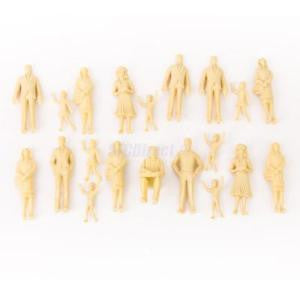 Alcoa Prime 20pcs Unpainted People Figures Model Train Platform Street Scenery 1:25 G Scale