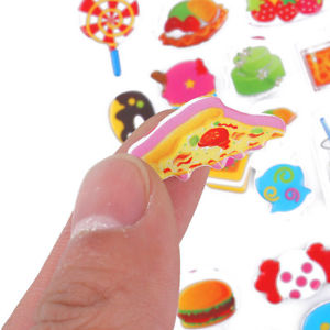 10 Pcs Cute Cartoon Fish Pattern PVC Stickers DIY Craft For Kids