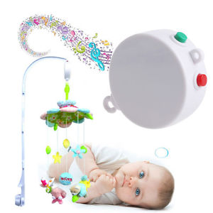 Alcoa Prime 5 Songs Rotary Baby Mobile Crib Bed Toy Child Music Box Movement Bell Nursery
