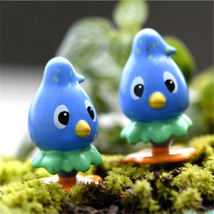 Moss micro - landscape ornaments multi - carved dolls ornaments blue bird TB