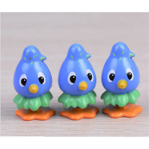 Moss micro - landscape ornaments multi - carved dolls ornaments blue bird Pop