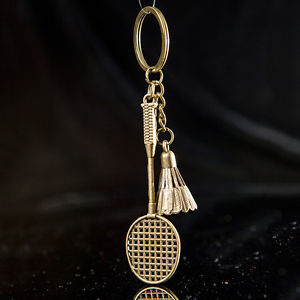 Shuttlecock Badminton Rackets Key Chain Key Ring Sport Business Gifts Keychain