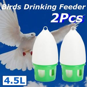 Alcoa Prime 2X 4.5L Water Dove Drink Dispenser Pigeon Birds Canary Drinker Feeder Supplies