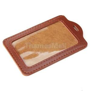 Credit ID Case Business Card Holder Leather Trim New