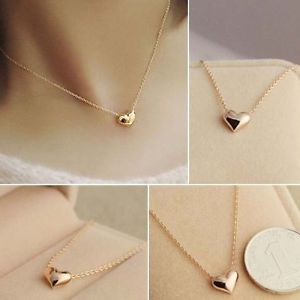 Fashion Heart Shape Women Wedding Gift Jewelry Pendants Heart Shaped Necklace