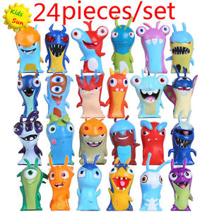 Alcoa Prime 24pcs/set 5cm Anime Cartoon Slugterra PVC Action Figures Toys Dolls Child Gift