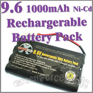 Alcoa Prime 1 pc 9.6V 1000mAh Ni-Cd Rechargeable Battery Pack For RC Car Tamiya Connector