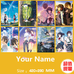 Alcoa Prime Poster 8PCS/set kimi no na wa Your Name  A3 Posters Print