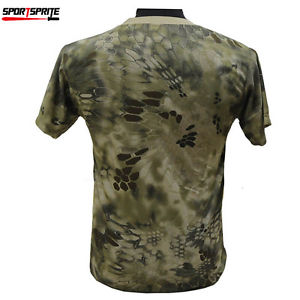 Alcoa Prime Outdoor Sports Camo Shirt Tactical Men T-shirt Tops MEN'S Clothes Short MAD L