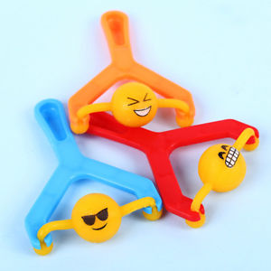 12Pcs Emoji Slingshot Cute Smile Face Toy Kid Gift Pressure Relief Gracious