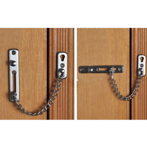 Modern Stainless steel door safty bolt guard Door Security Chains lock Latch HF