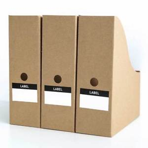 5Pcs Kraft Paper File Magazine Holder Desk Storage Organizer For Office Home Pro