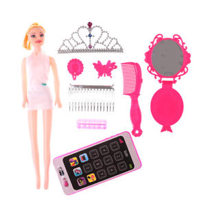 Creative Cartoon Designed Barbie Dolls DIY Toy Accessory#