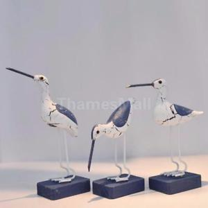 Mediterranean Style Nautical Wooden Craft SEAGULL Home Tabletop Art Ornament