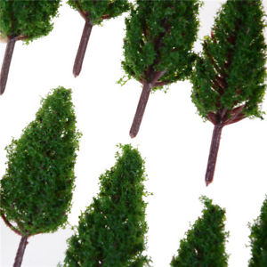 10pcs/Set 68mm Plastic Model Trees For Park Street  landscape Scene Scenery TO
