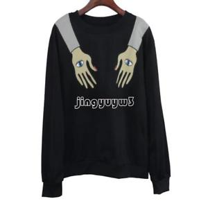Fashion Cotton Women  Sweatshirt Sweater Hoodies Hooded Hip Hop Sweater Black