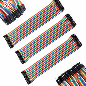 3*40pcs 30cm Male to Female Dupont Wire Jumper Cable for Arduino Breadboard J1#Y