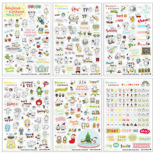 Alcoa Prime 6 Sheets/Pack Kids Cartoon  Stickers Classic Toy Children Transparent Decoration