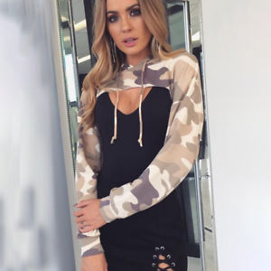 Women Warm Long Sleeve Hoodies Jumper Pullover Sweatshirts Crop Tops Shirts Coat