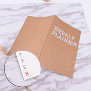 Planner Notebook Weekly Plan Day Planner Book Stationery Paper School Supplie HU