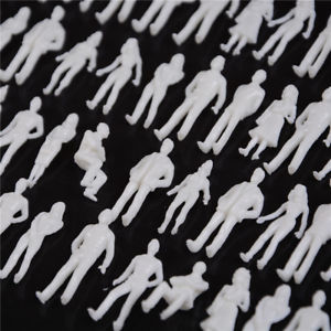 10 PCS 1:50 scale model human scale HO model ABS plastic peoples #