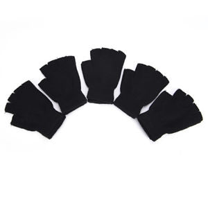 Pip Popular 1 Pair Women Fashion Knitted Arm Fingerless Winter Gloves Soft WarmB